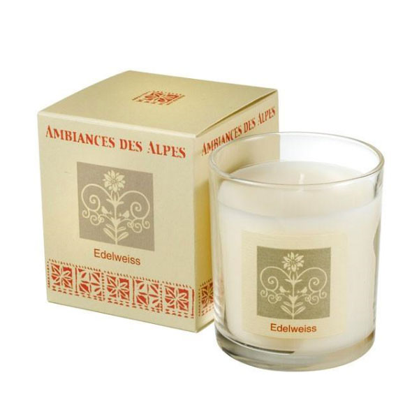 ambiances des alpes edelweiss candle