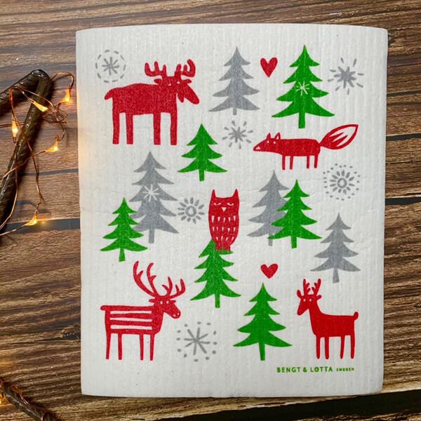 bengt and lotta christmas dish cloth