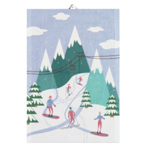 downhill ekelund tea towel