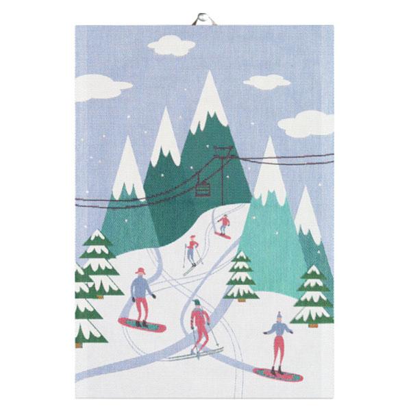 downhill ekelund tea towel