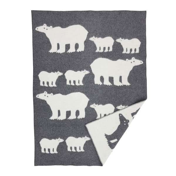 klippan grey polar bear blanket
