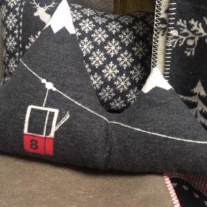 mountain peaks cushion