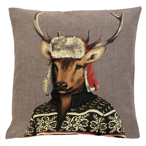 nordic deer brown cushion