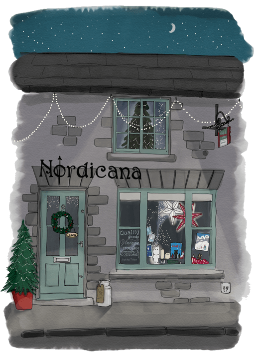 nordicana winter shop illustration