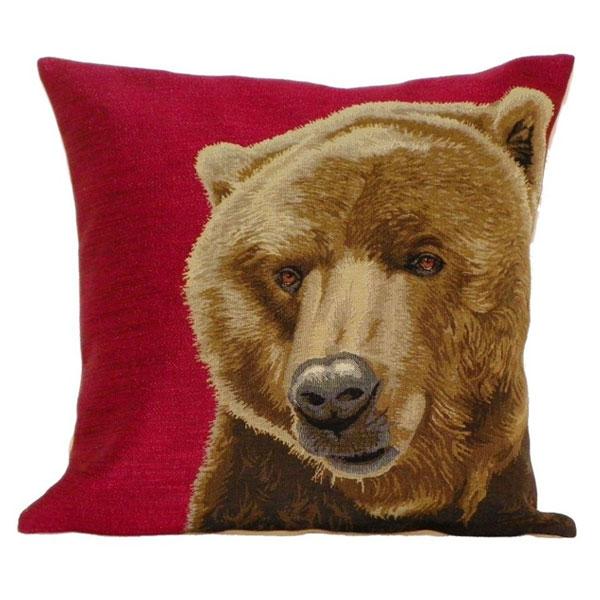 red bear cushion