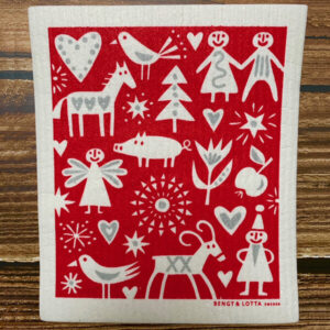 bengt and lotta swedish christmas dish cloth