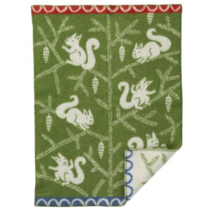 swedish green squirrel blanket green