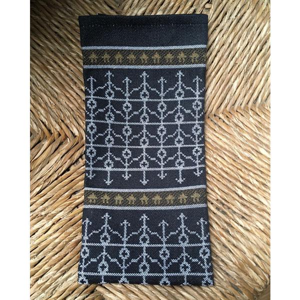 black traditional swedish hand towel