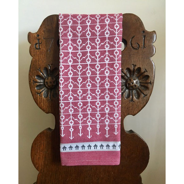 traditional red swedish hand towel
